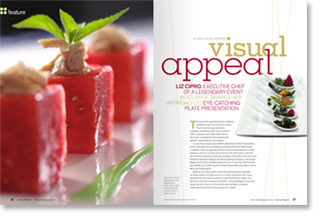 A Legendary Event's Executive Chef Liz Cipro Featured in Catering Magazine