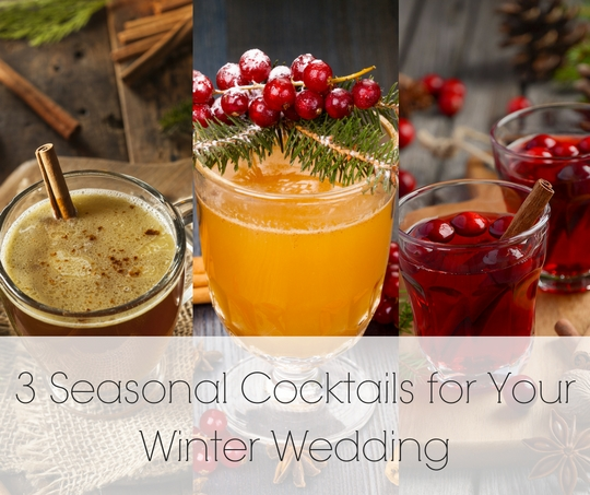 3 Winter Wedding Cocktails | Legendary Events