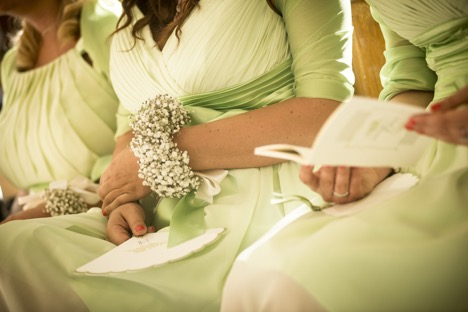 Bridesmaids in Pale Green Dresses | Legendary Events