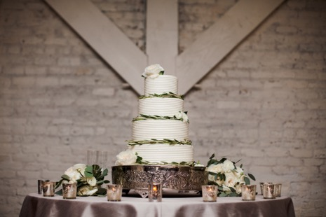 Wedding Cake with Green Leaves | Legendary Events