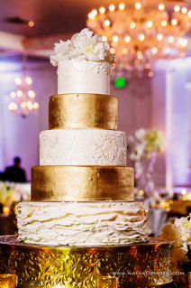 Gold and White Wedding Cake | Legendary Events
