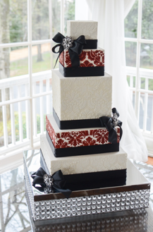 Square Tiered Wedding Cake | Legendary Events